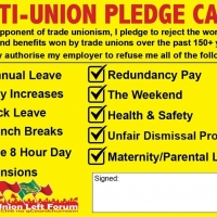 Anti Union Pledge Card
