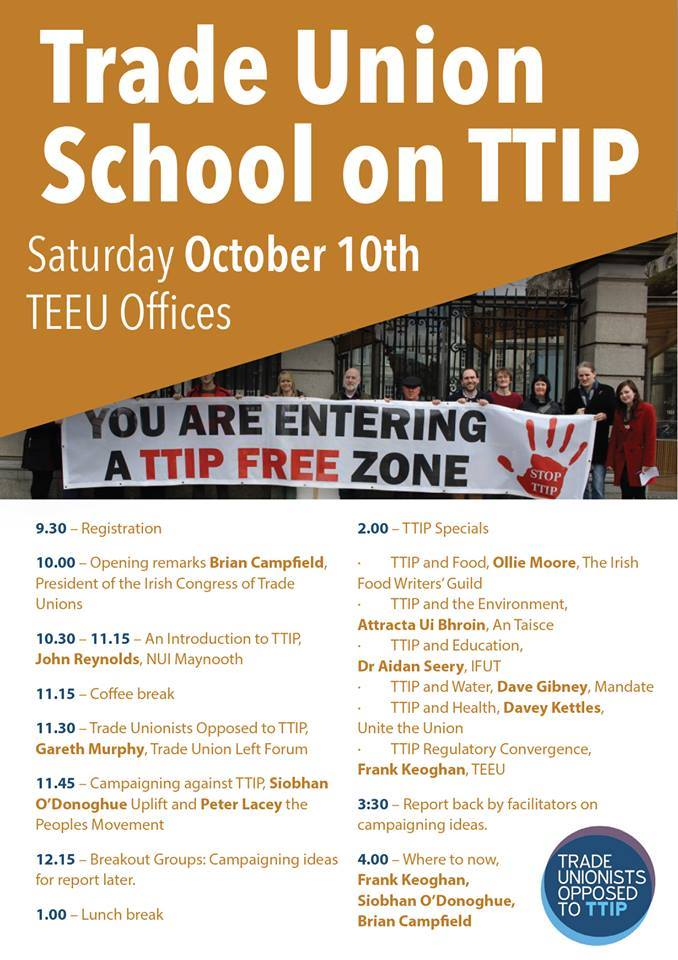 Trade Union School on TIPP